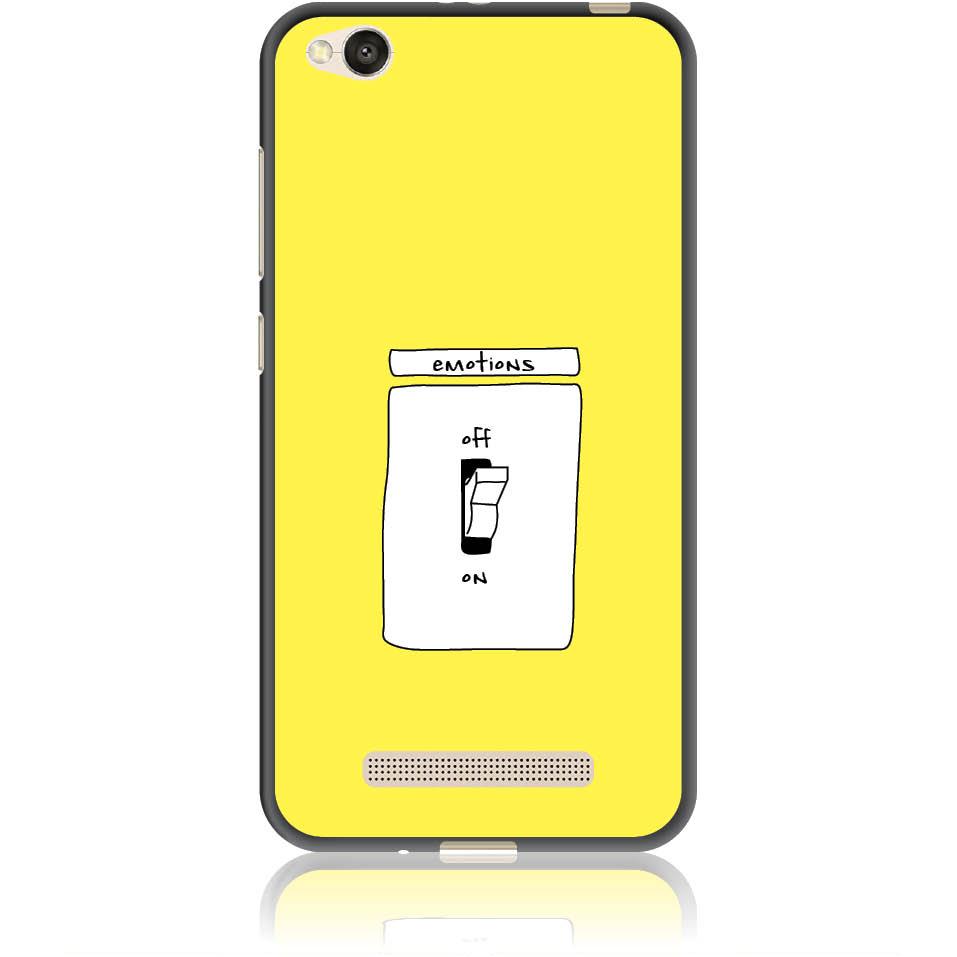 Emotions Off Phone Case Design 50228  -  Xiaomi Redmi 4a  -  Soft Tpu Case
