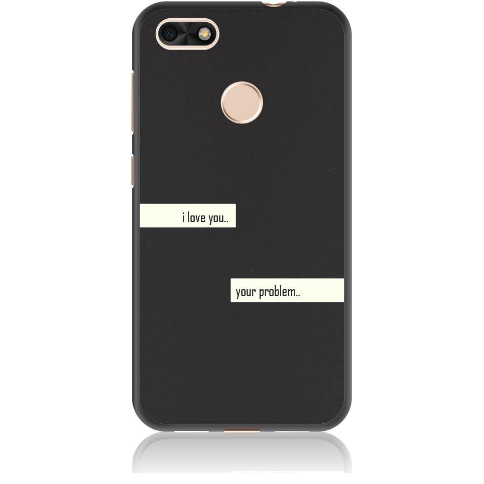 I Love You Phone Case Design 50236  -  Huawei Y6 Pro 2017  -  Soft Tpu Case