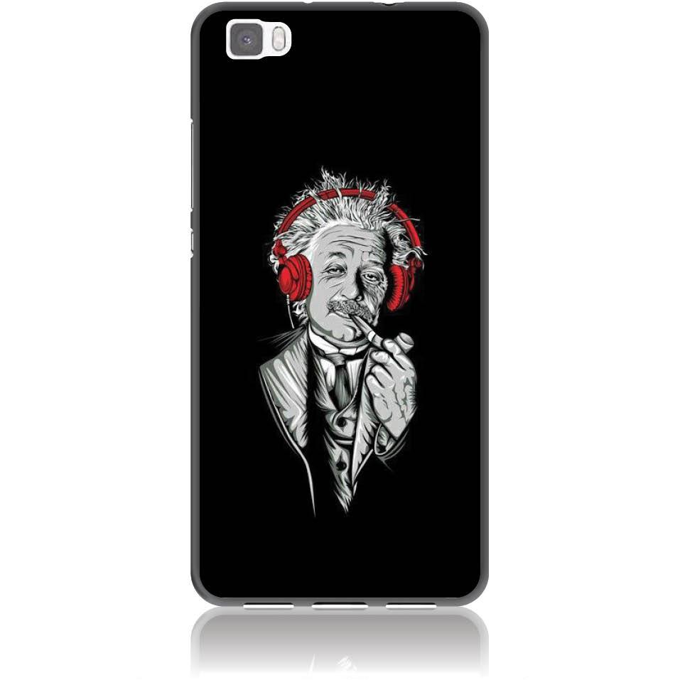 Funky Cool Einstein Phone Case Design 50260  -  Huawei P8 Lite  -  Soft Tpu Case