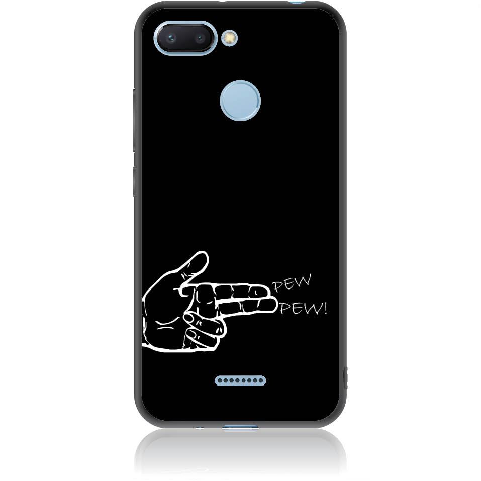 Finger Gun Phone Case Design 50284  -  Xiaomi Redmi 6  -  Soft Tpu Case