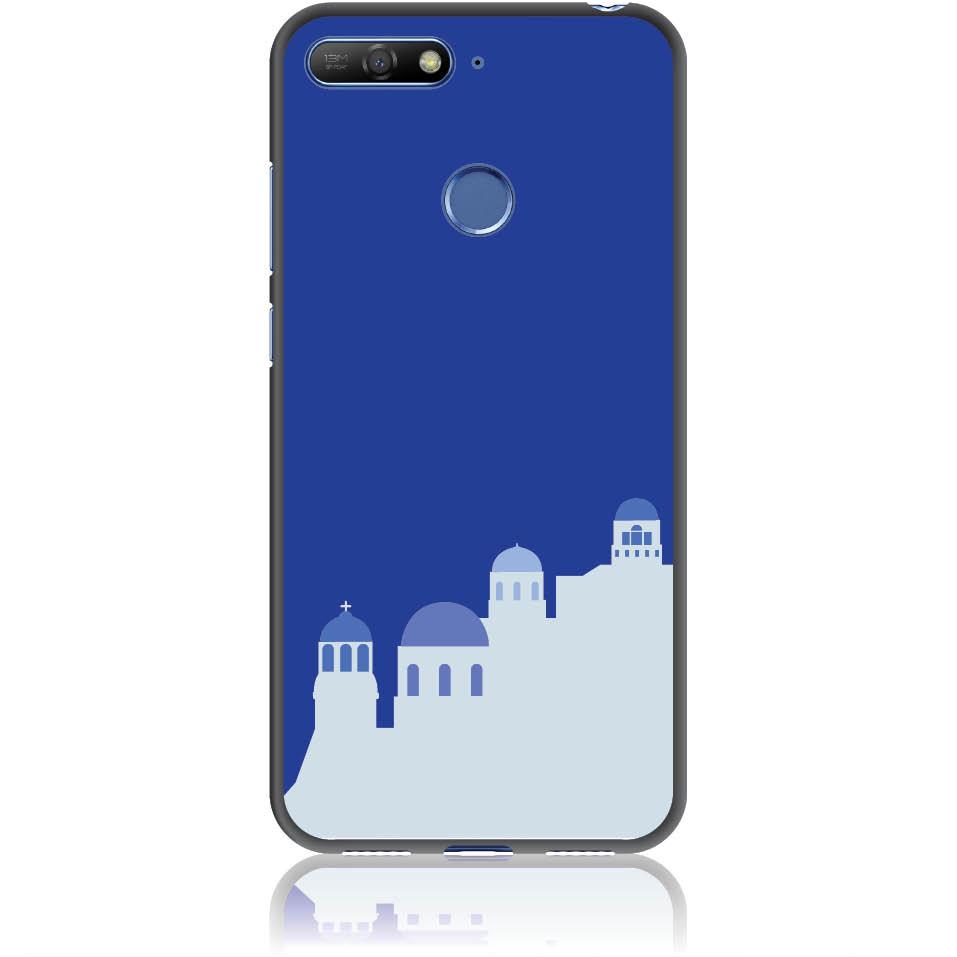 Santorini Pure Blue Phone Case Design 50294  -  Honor 7a  -  Soft Tpu Case