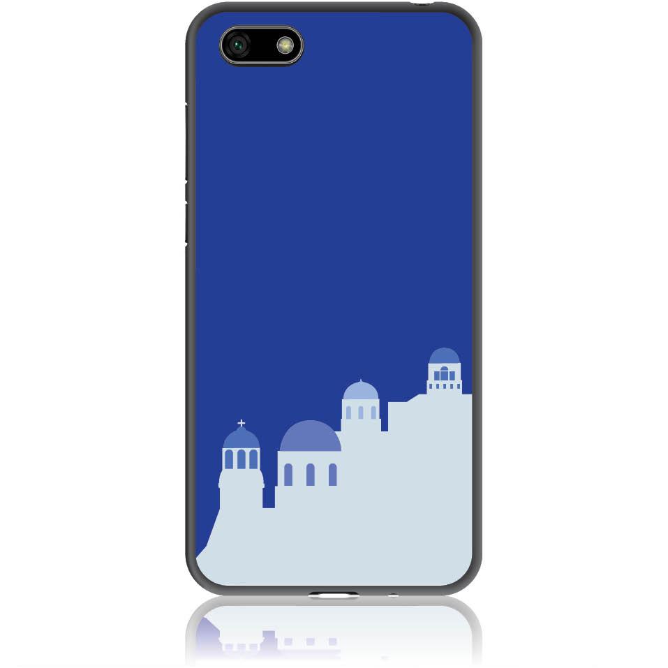 Santorini Pure Blue Phone Case Design 50294  -  Huawei Y5 2018  -  Soft Tpu Case
