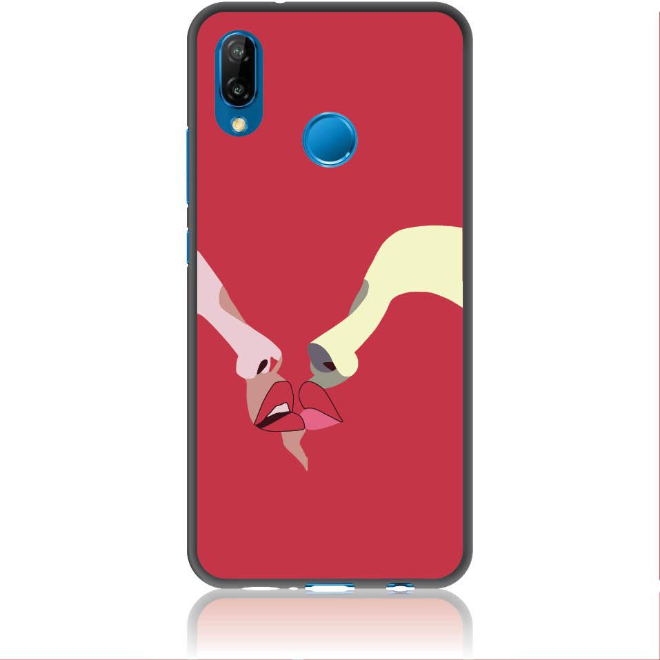 Red Lovers Phone Case Design 50297  -  Huawei P20 Lite  -  Soft Tpu Case