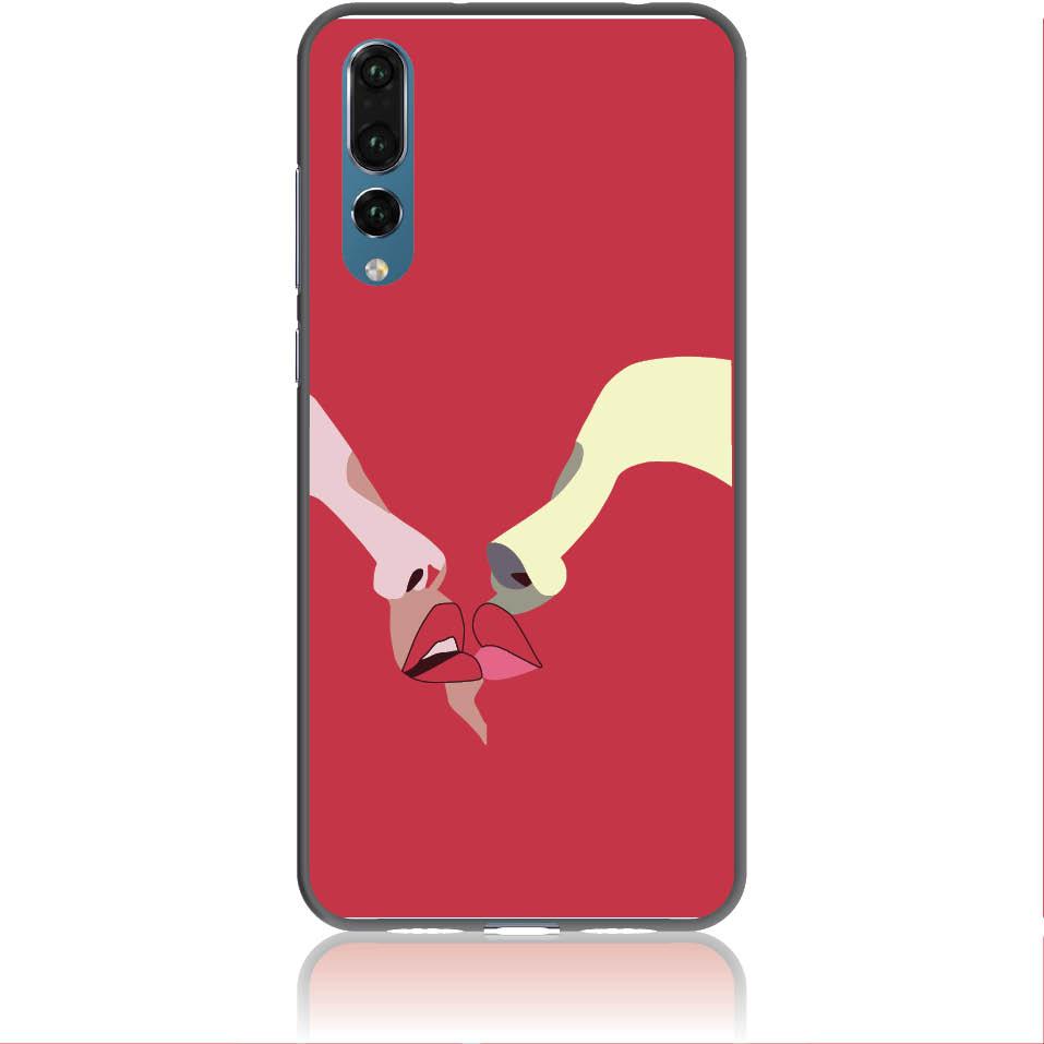 Red Lovers Phone Case Design 50297  -  Huawei P20 Pro  -  Soft Tpu Case