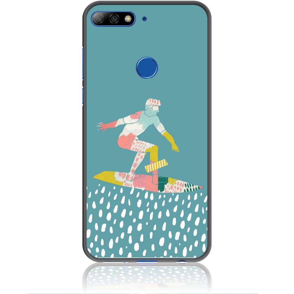 Surf Boy Phone Case Design 50305  -  Huawei Y7 Prime 2018  -  Soft Tpu Case