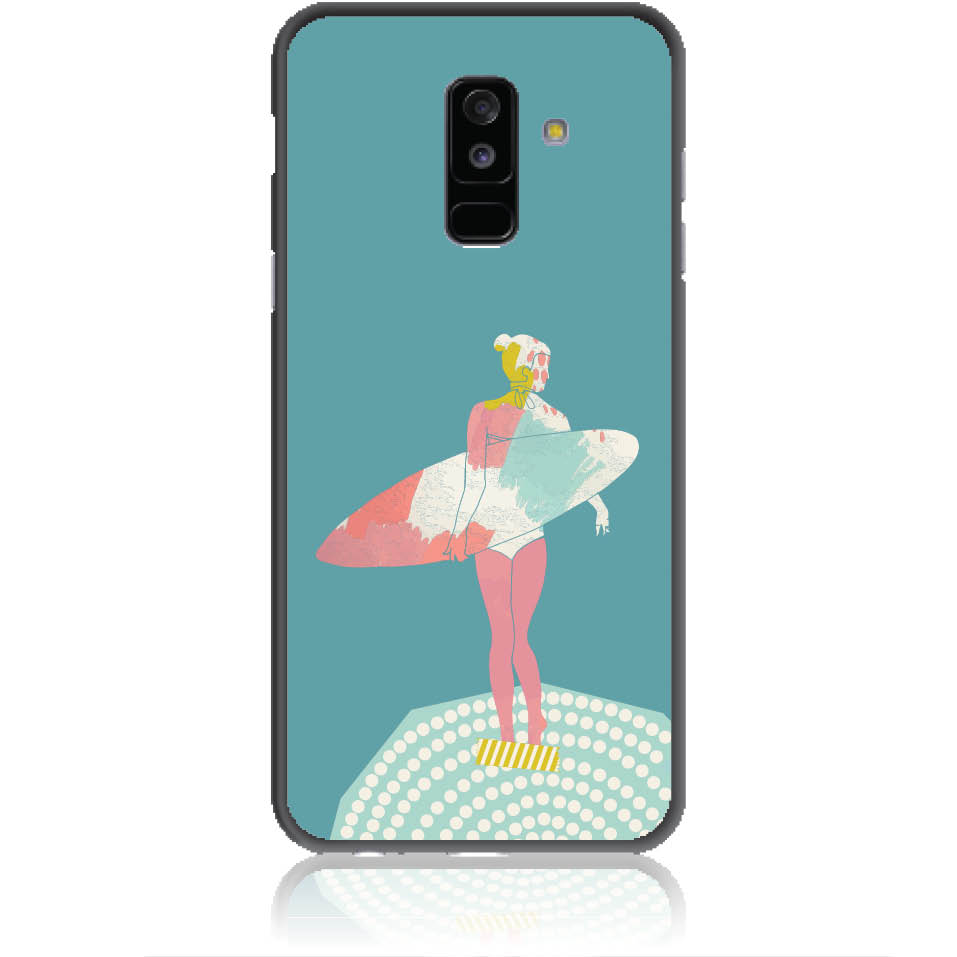 Surf Girl Phone Case Design 50306  -  Samsung Galaxy A6+ (2018)  -  Soft Tpu Case