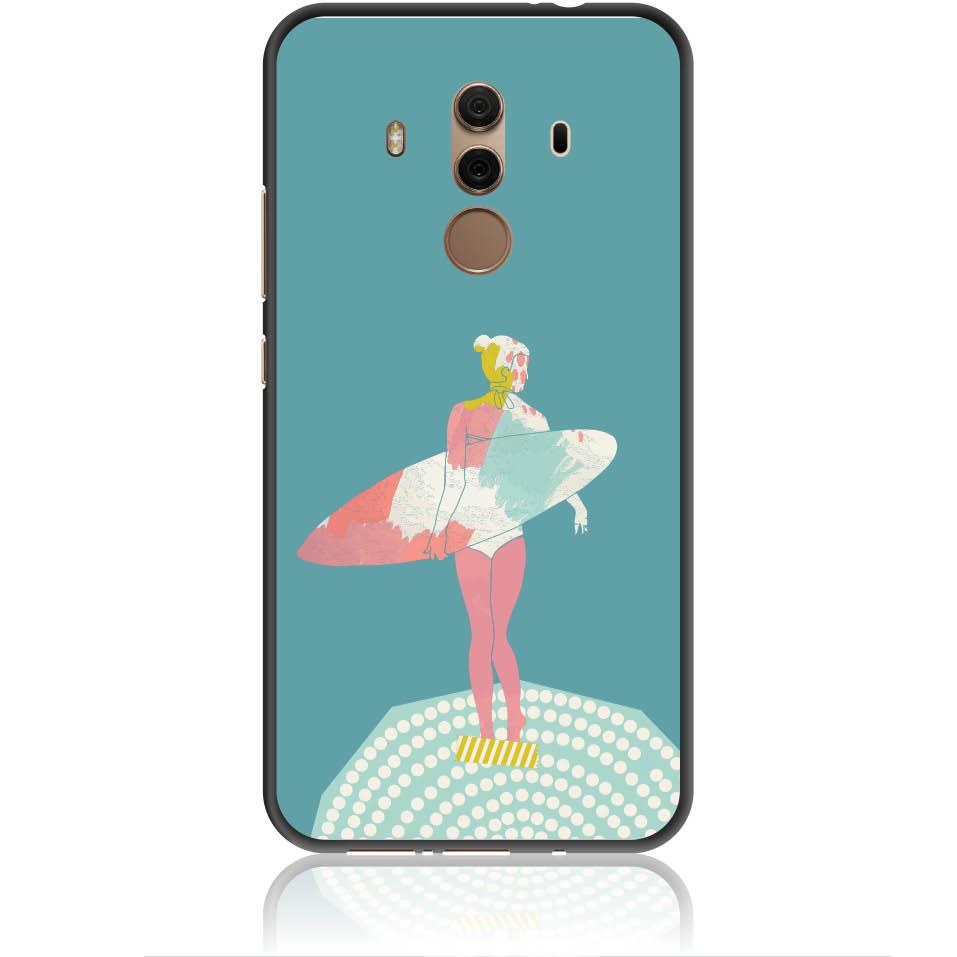 Surf Girl Phone Case Design 50306  -  Huawei Mate 10 Pro  -  Soft Tpu Case