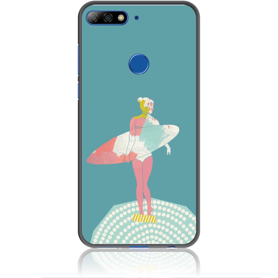 Surf Girl Phone Case Design 50306  -  Honor 7c  -  Soft Tpu Case