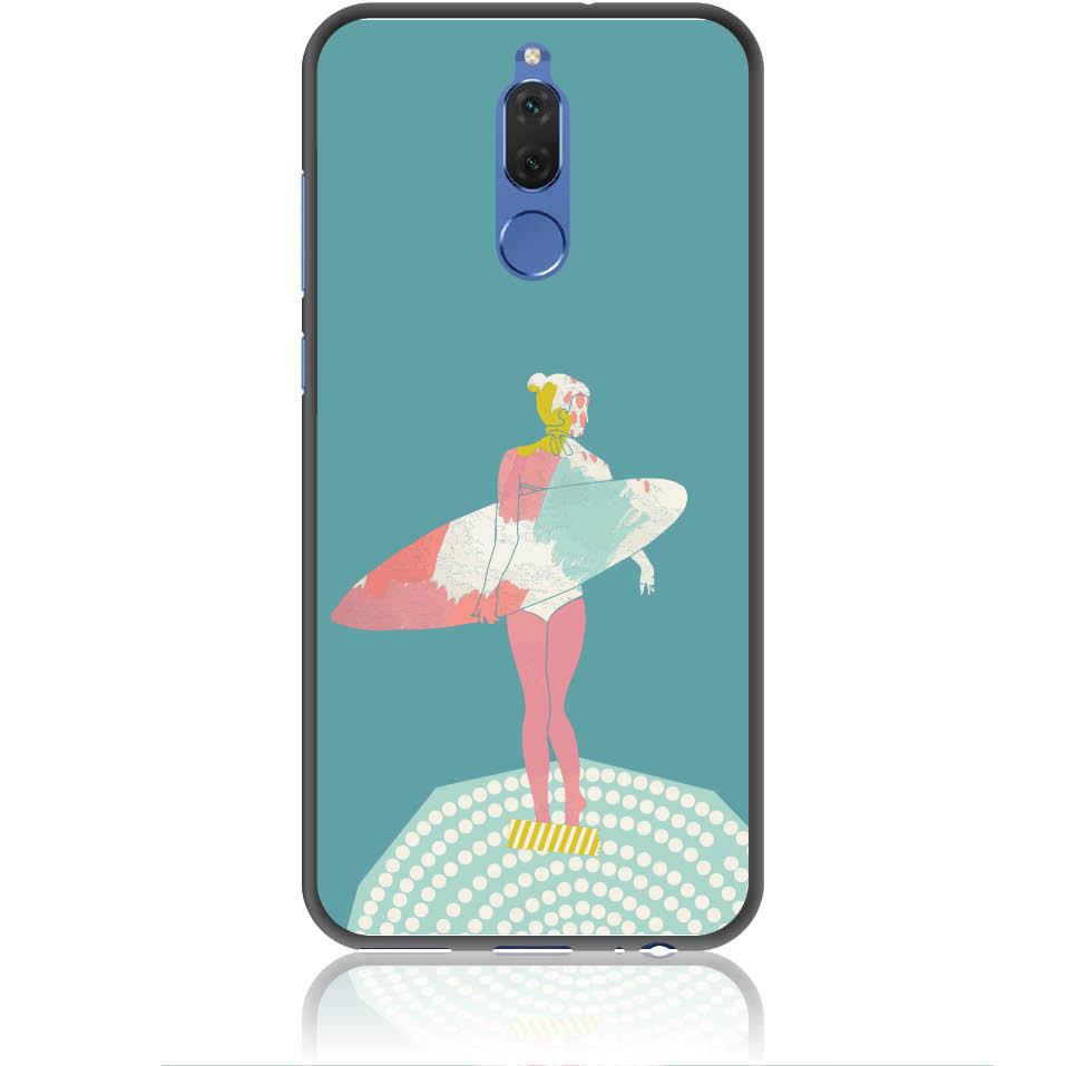 Surf Girl Phone Case Design 50306  -  Huawei Nova 2i  -  Soft Tpu Case