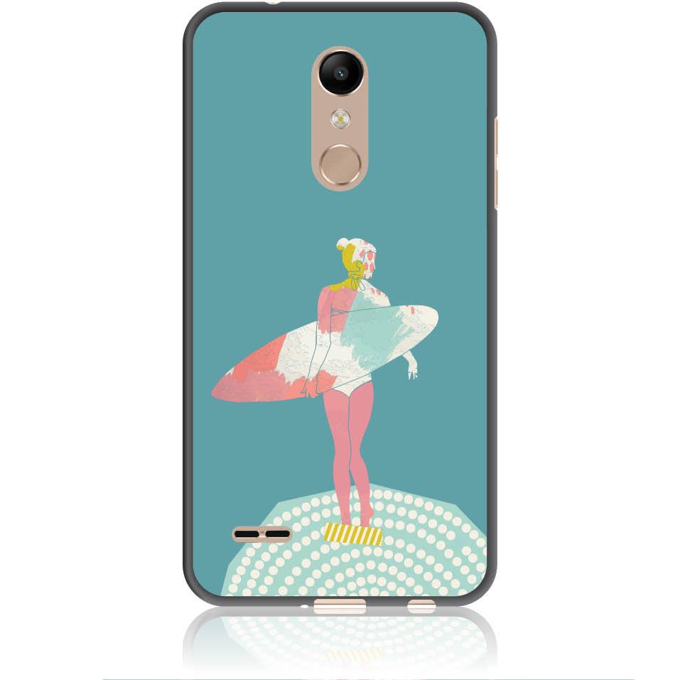 Surf Girl Phone Case Design 50306  -  Lg K10 (2018)  -  Soft Tpu Case