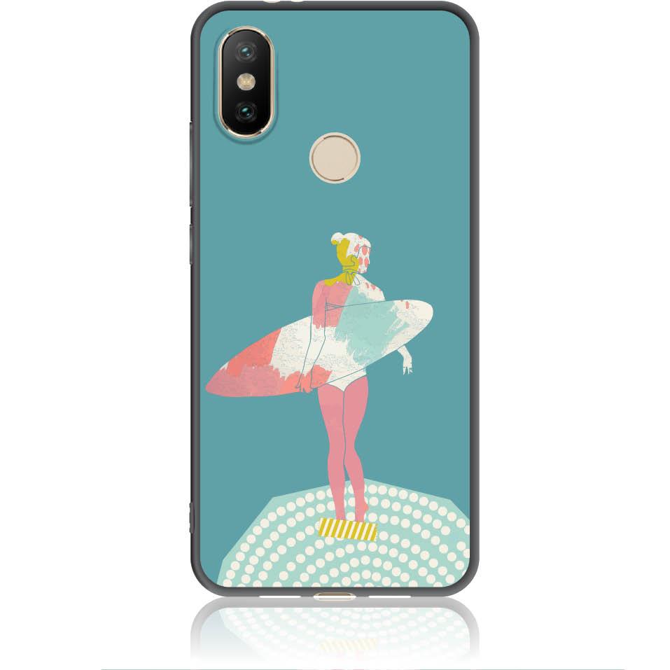 Surf Girl Phone Case Design 50306  -  Xiaomi Mi A2  -  Soft Tpu Case