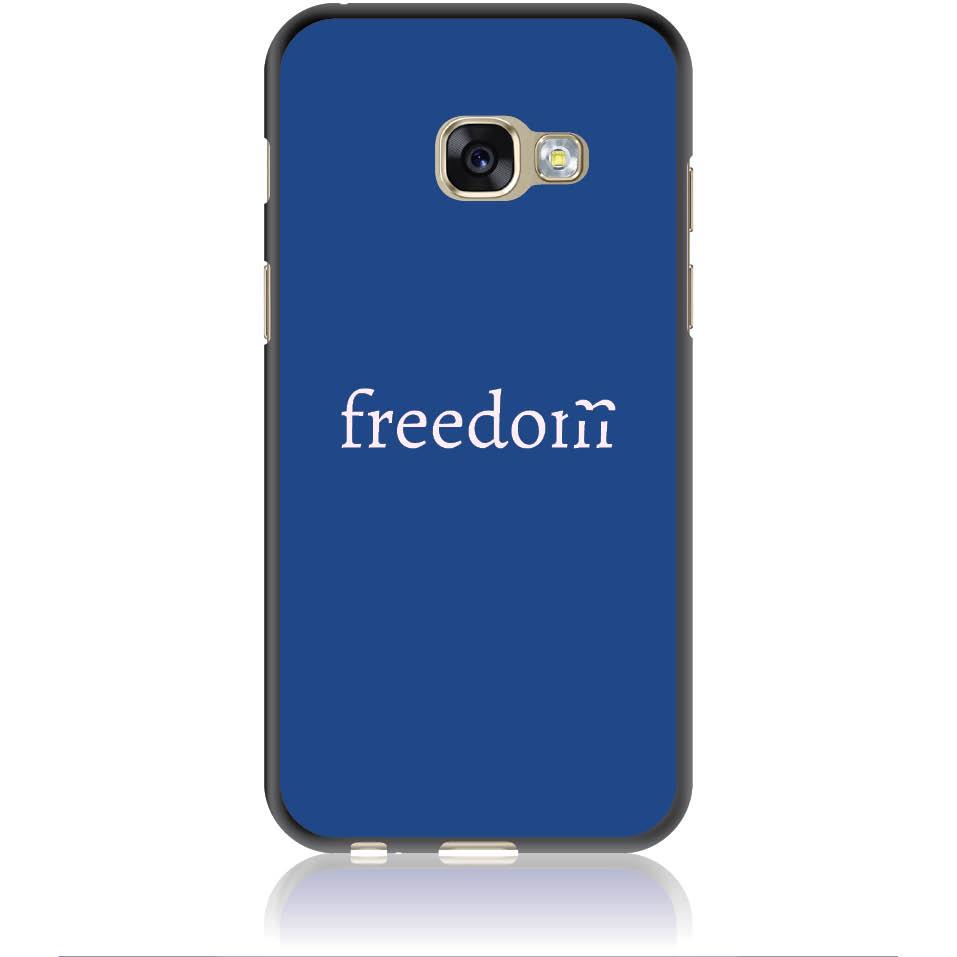Freedom Blue Phone Case Design 50307  -  Samsung Galaxy A3 (2017)  -  Soft Tpu Case