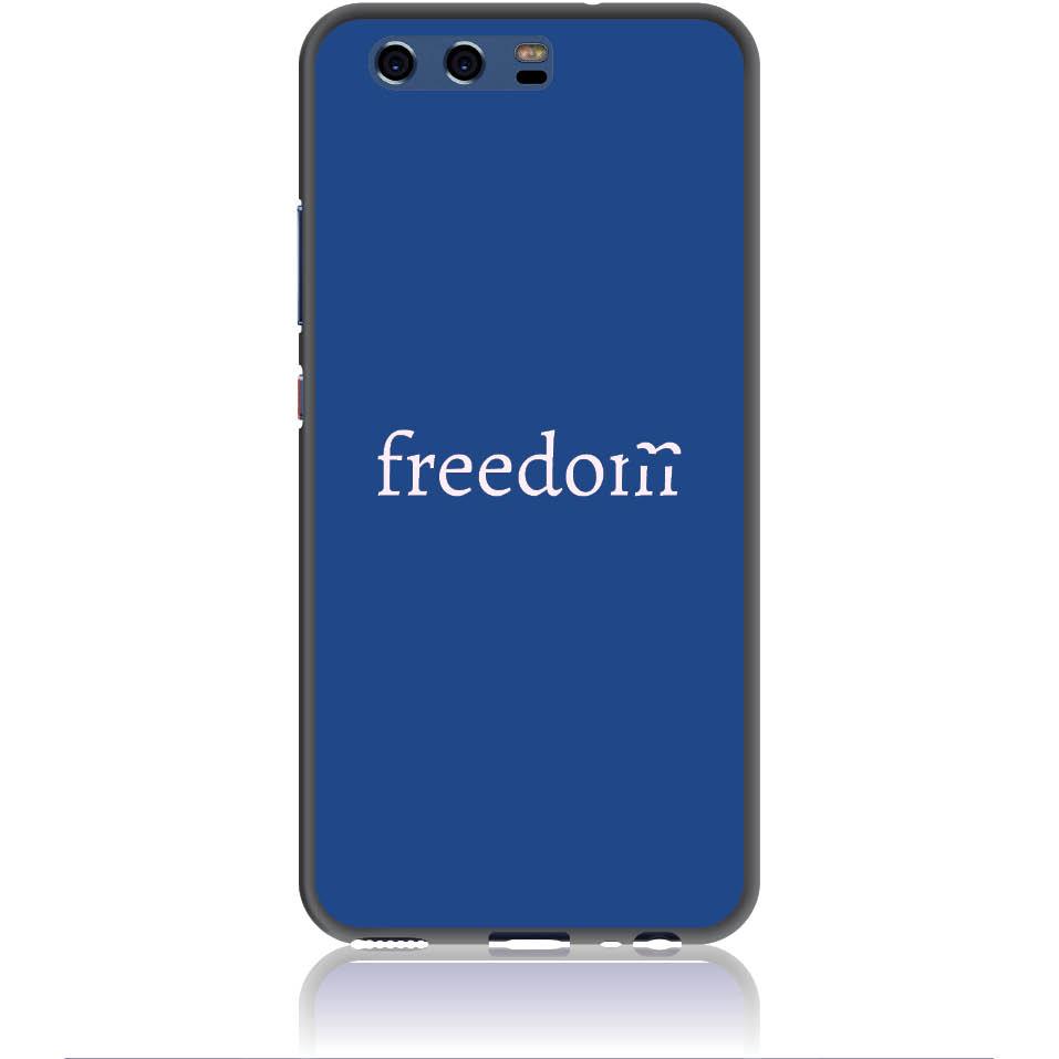 Freedom Blue Phone Case Design 50307  -  Huawei P10  -  Soft Tpu Case