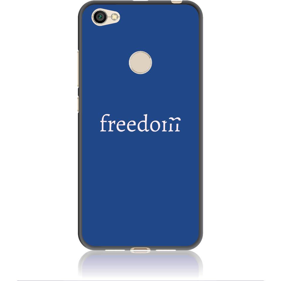 Freedom Blue Phone Case Design 50307  -  Xiaomi Redmi Note 5a Prime  -  Soft Tpu Case