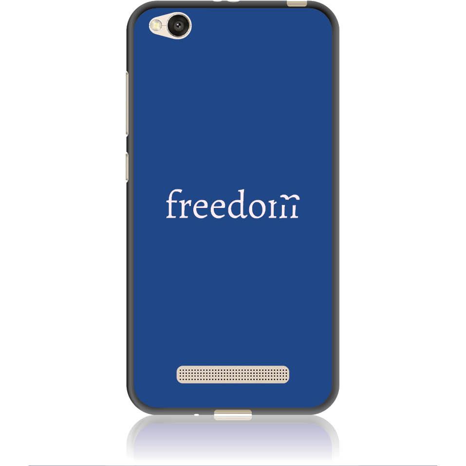Freedom Blue Phone Case Design 50307  -  Xiaomi Redmi 4a  -  Soft Tpu Case