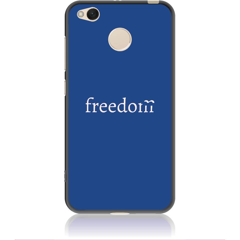 Freedom Blue Phone Case Design 50307  -  Xiaomi Redmi 4x  -  Soft Tpu Case