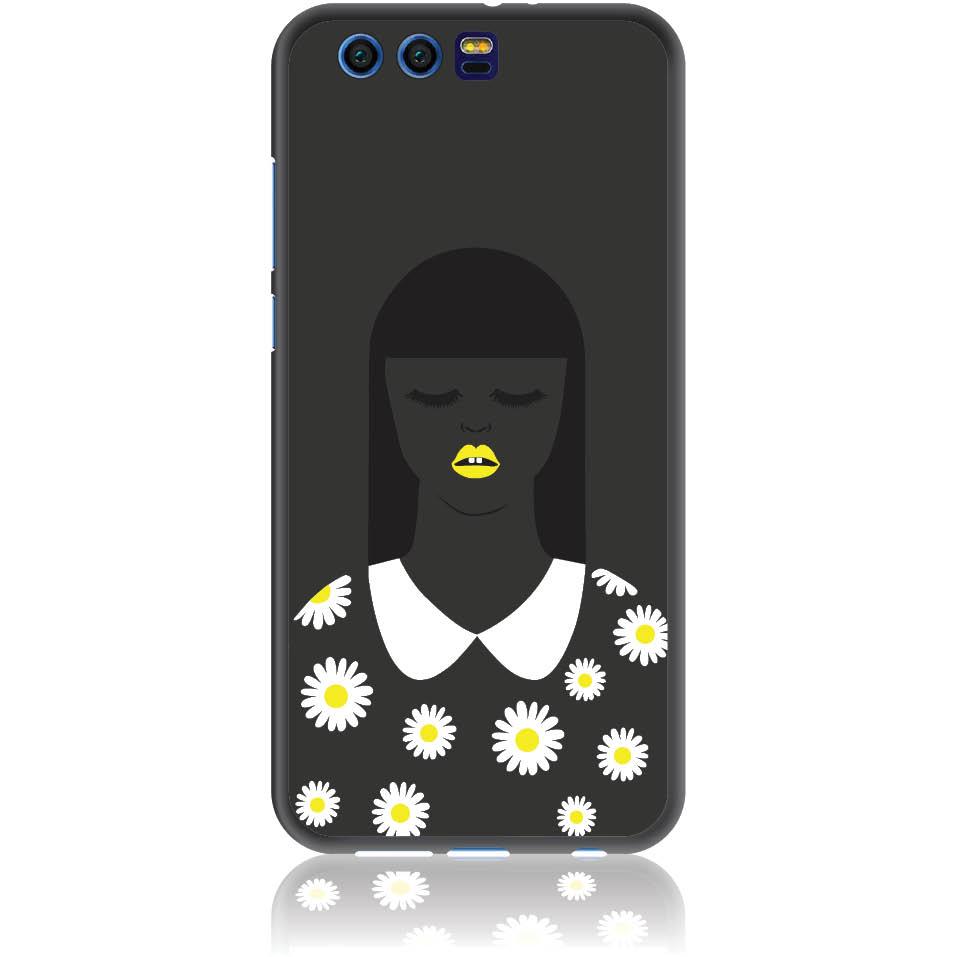 African Beauty Daisy Girl Phone Case Design 50327  -  Honor 9  -  Soft Tpu Case