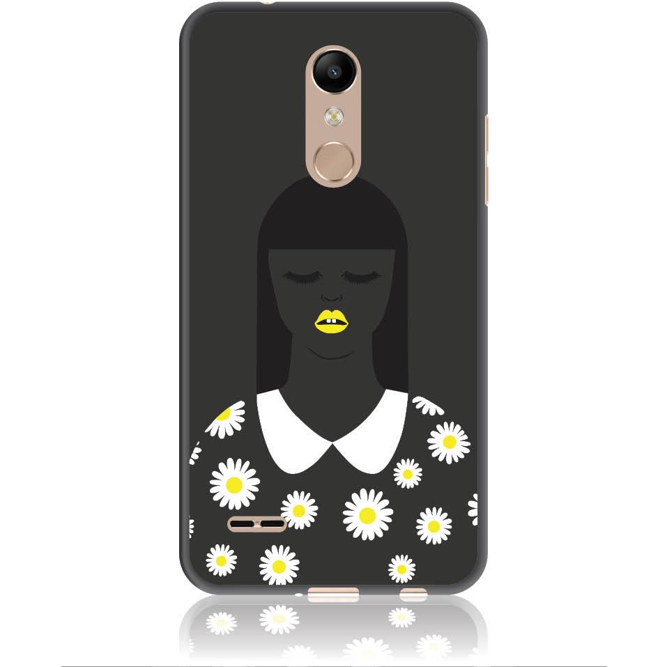 African Beauty Daisy Girl Phone Case Design 50327  -  Lg K10 (2018)  -  Soft Tpu Case