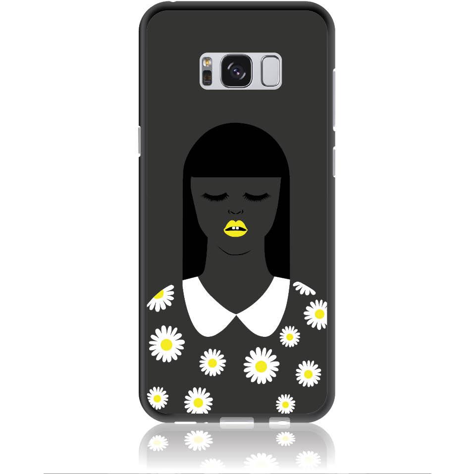 African Beauty Daisy Girl Phone Case Design 50327  -  Samsung Galaxy S8+  -  Soft Tpu Case