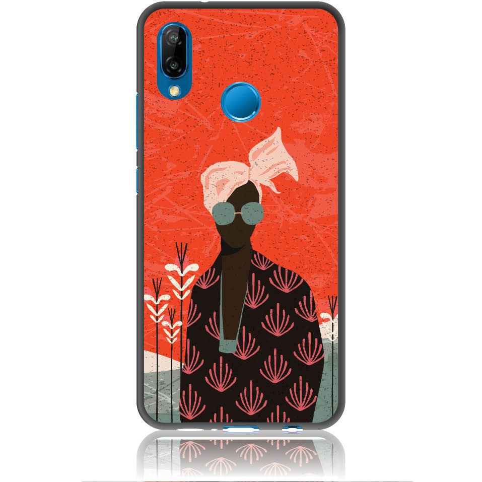 Melanin Afro Beauty Phone Case Design 50348  -  Huawei P20 Lite  -  Soft Tpu Case