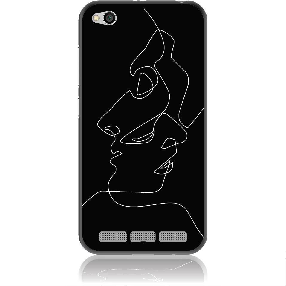 Totally Connected Tow Faces Phone Case Design 50357  -  Xiaomi Redmi 5a  -  Soft Tpu Case
