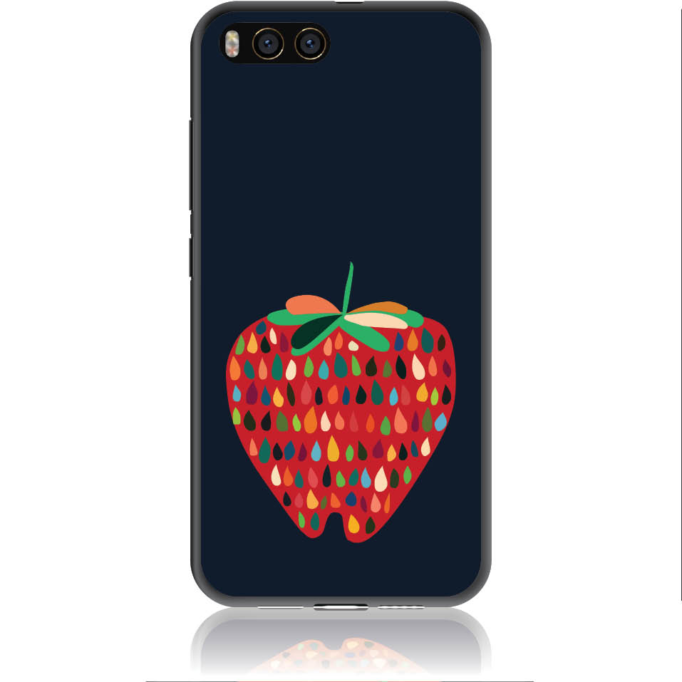 Unbite Strawberry Passion Phone Case Design 50373  -  Xiaomi Mi 6  -  Soft Tpu Case