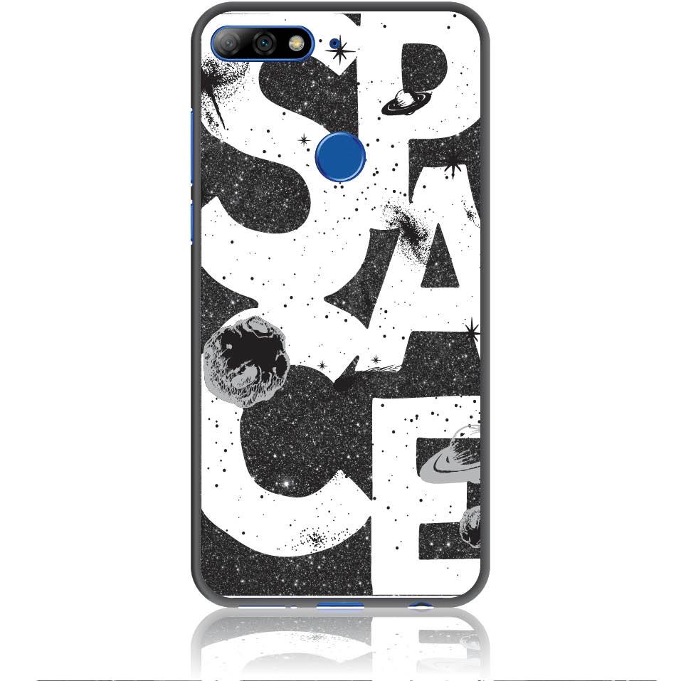 Space Art Phone Case Design 50375  -  Huawei Y7 Prime 2018  -  Soft Tpu Case