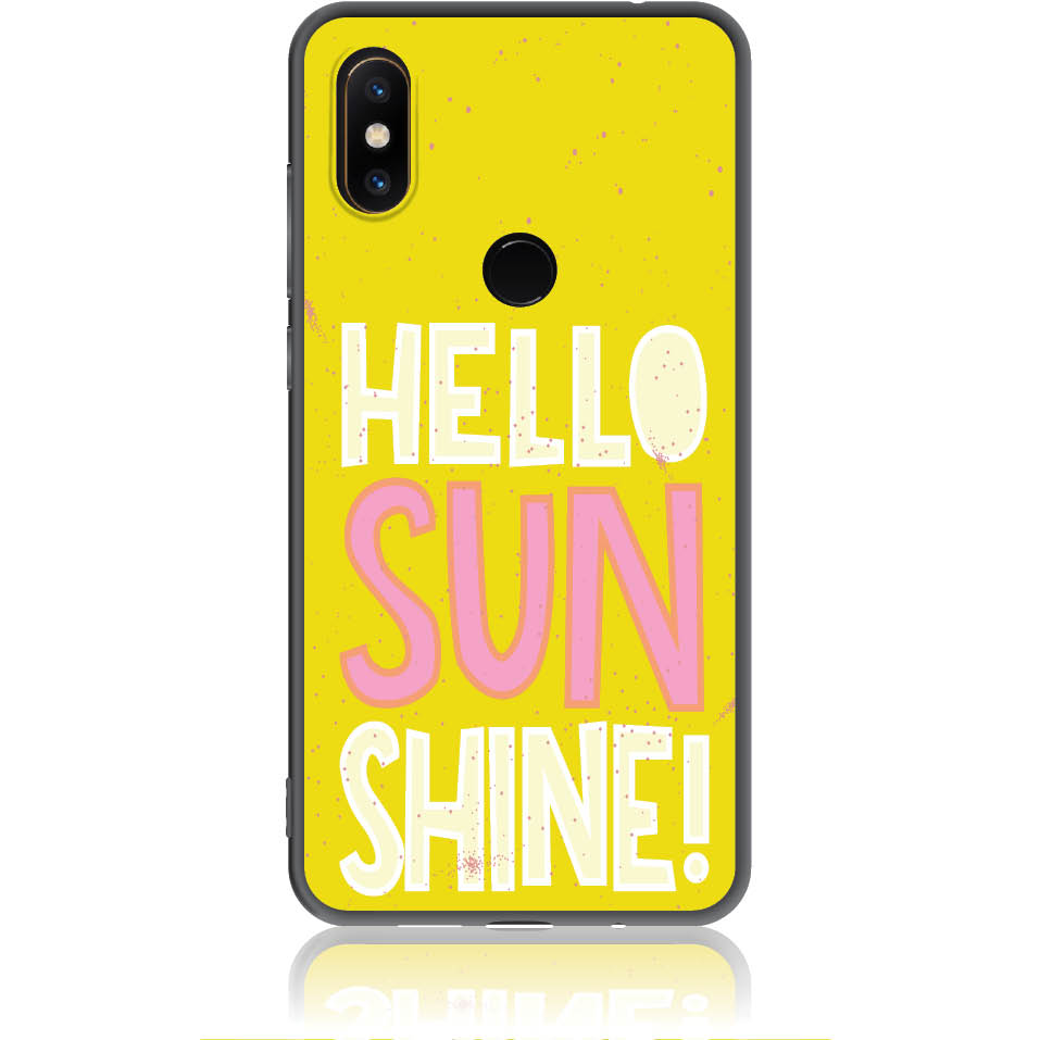 Hello Sunshine Yellow Art Phone Case Design 50377  -  Xiaomi Mi Mix 2s  -  Soft Tpu Case