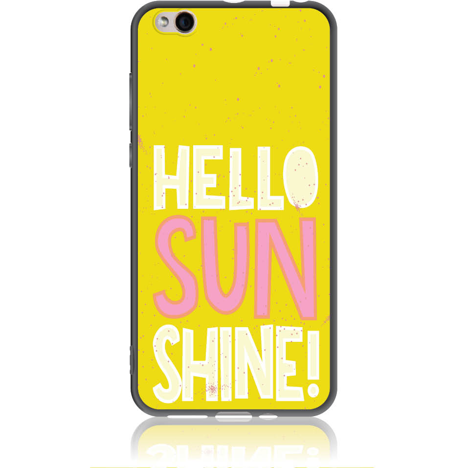 Hello Sunshine Yellow Art Phone Case Design 50377  -  Xiaomi Mi 5c  -  Soft Tpu Case