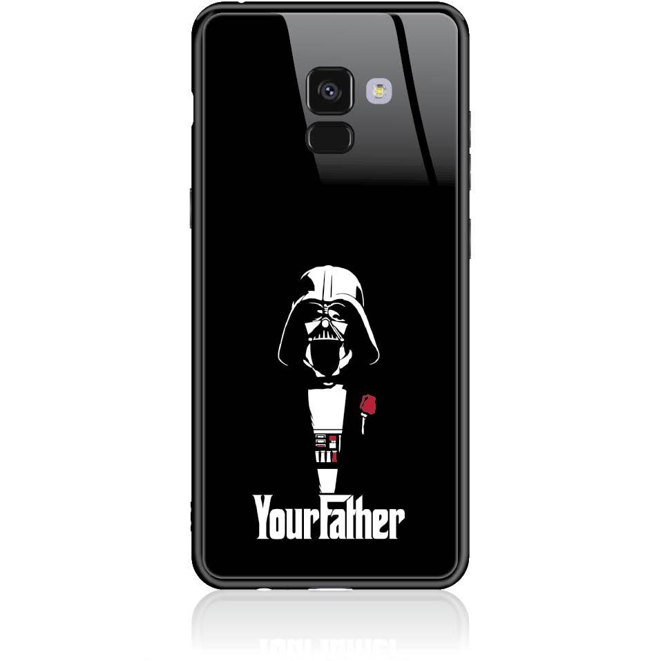 The Darhvader Phone Case Design 50004  -  Samsung Galaxy A8+ (2018)  -  Tempered Glass Case
