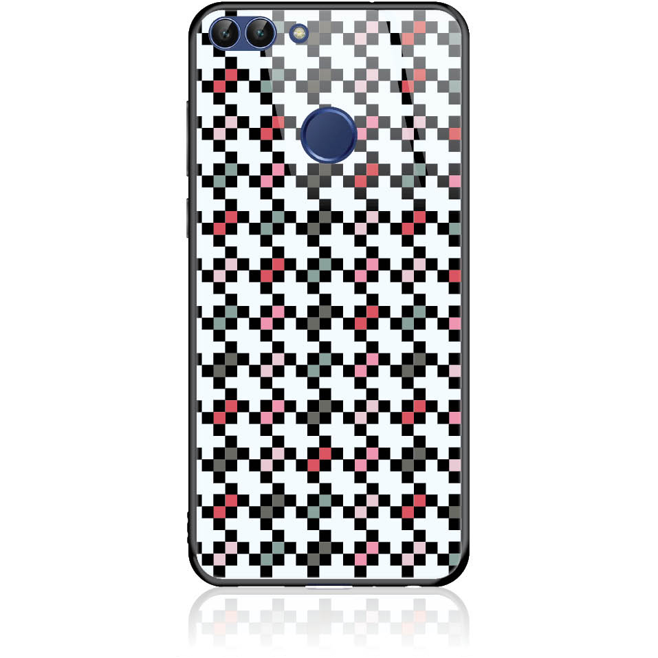 Pattern Tetris Phone Case Design 50036  -  Huawei P Smart  -  Tempered Glass Case