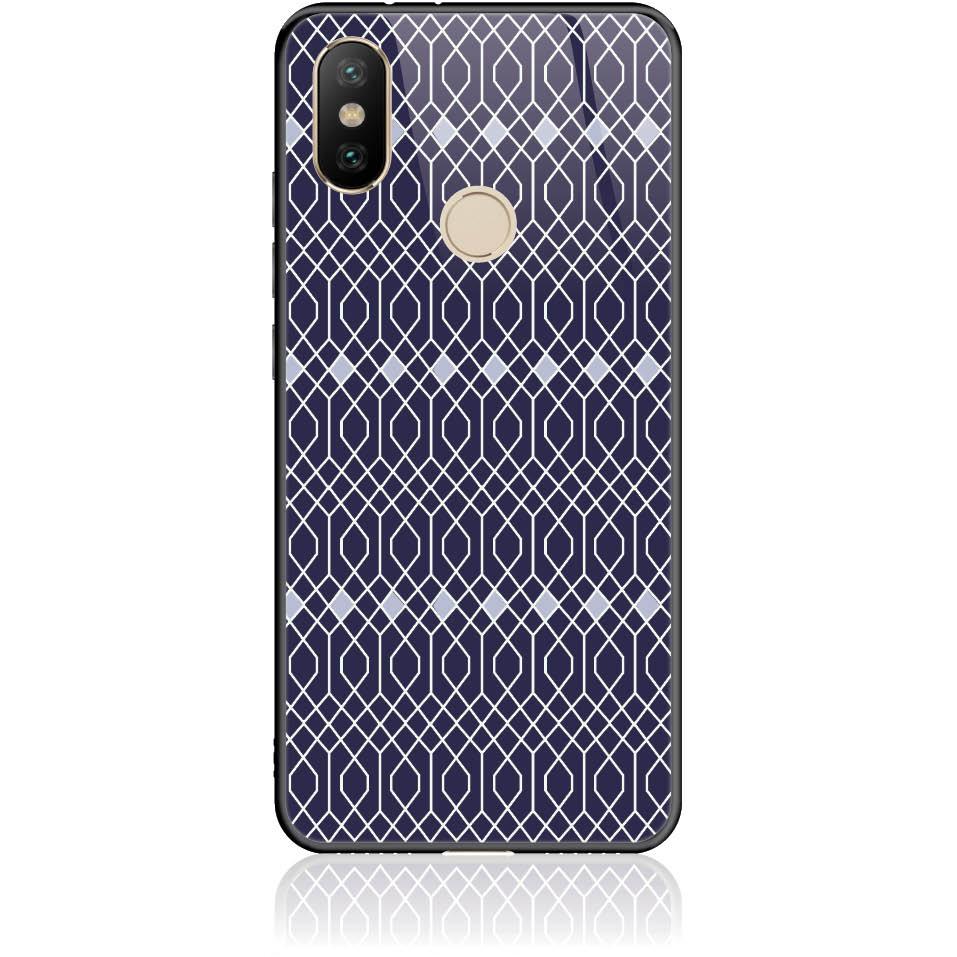 Rhombus Pattern Phone Case Design 50037  -  Xiaomi Mi A2  -  Tempered Glass Case