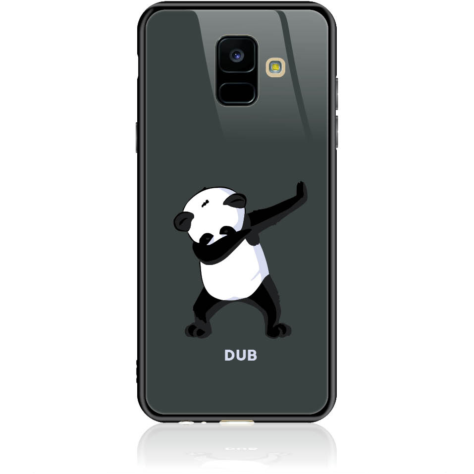 Dub Panda Dance Phone Case Design 50050  -  Samsung Galaxy A6 (2018)  -  Tempered Glass Case