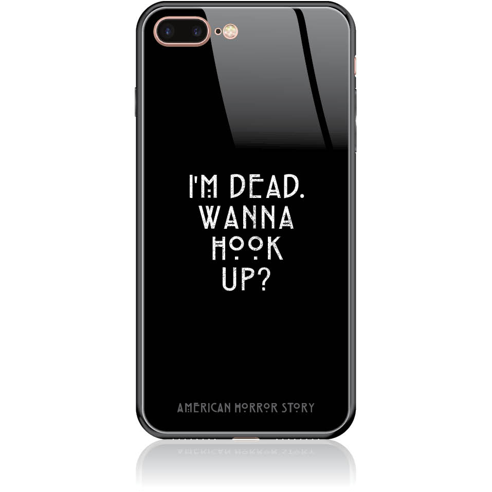 Wanna Hook Up? Horror Story Phone Case Design 50053  -  Iphone 7 Plus  -  Tempered Glass Case