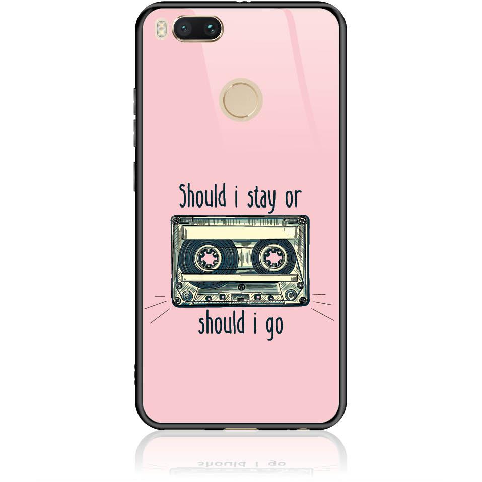 Should I Stay Or Should I Go Phone Case Design 50058  -  Xiaomi Mi 5x  -  Tempered Glass Case