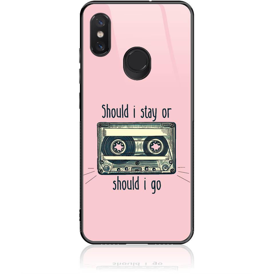 Should I Stay Or Should I Go Phone Case Design 50058  -  Xiaomi Mi 8  -  Tempered Glass Case