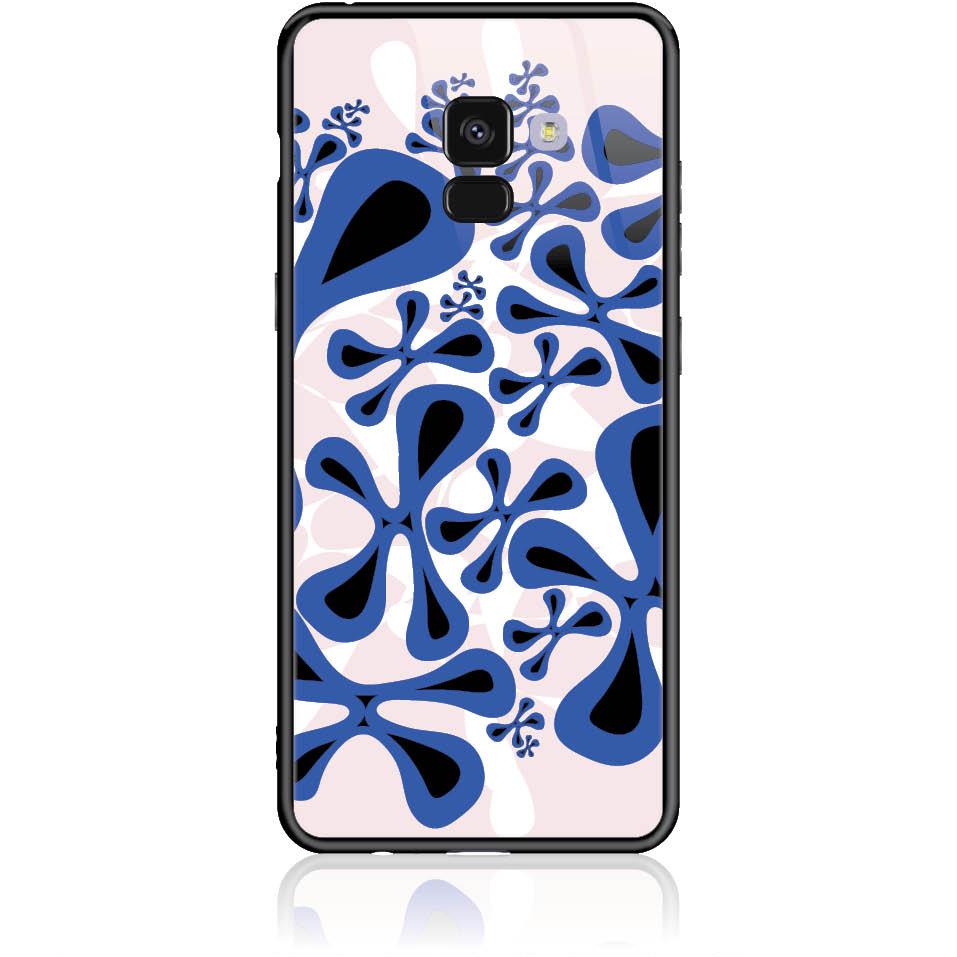 Girl A Lurk Pattern Phone Case Design 50088  -  Samsung Galaxy A8+ (2018)  -  Tempered Glass Case