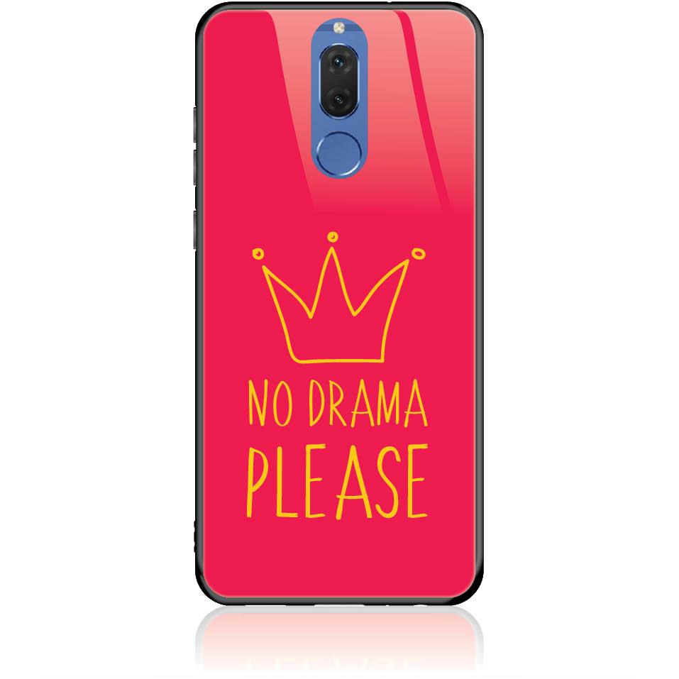 No Drama Please Red Phone Case Design 50092  -  Huawei Nova 2i  -  Tempered Glass Case