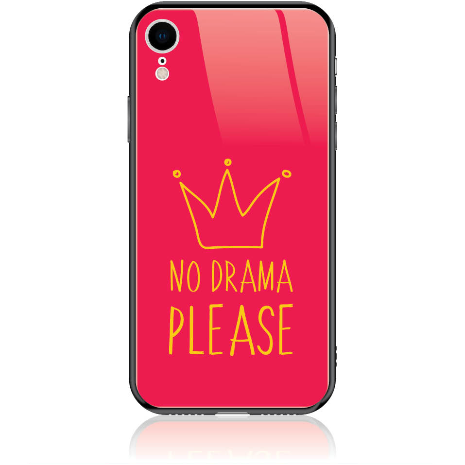 No Drama Please Red Phone Case Design 50092  -  Iphone Xr  -  Tempered Glass Case