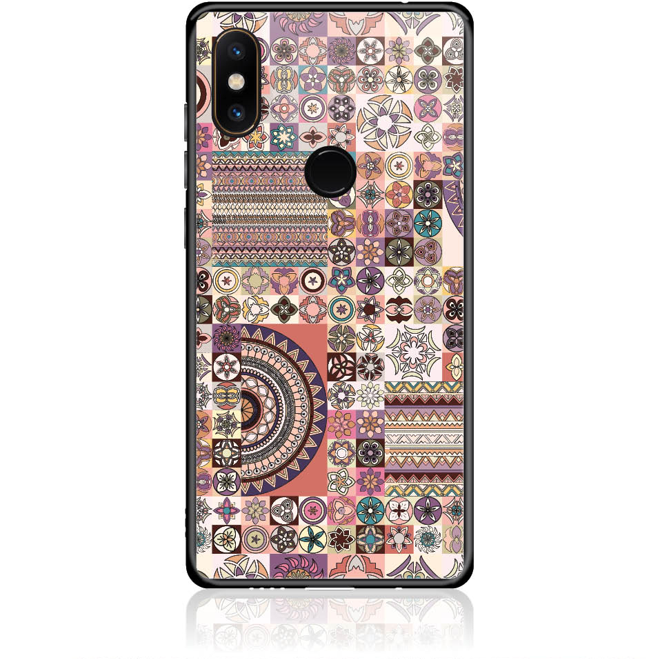 Vintage Pattern Phone Case Design 50093  -  Xiaomi Mi Mix 2s  -  Tempered Glass Case