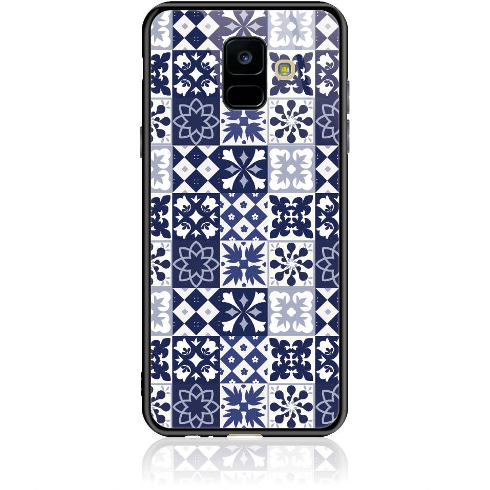 Blue Vintage Phone Case Design 50094  -  Samsung Galaxy A6 (2018)  -  Tempered Glass Case