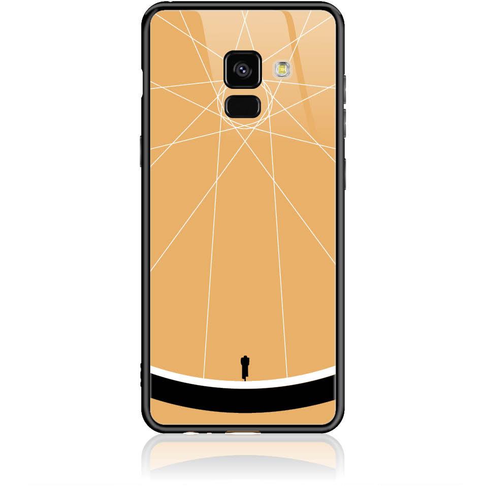 Cyclologist Minimal Phone Case Design 50110  -  Samsung Galaxy A8 (2018)  -  Tempered Glass Case