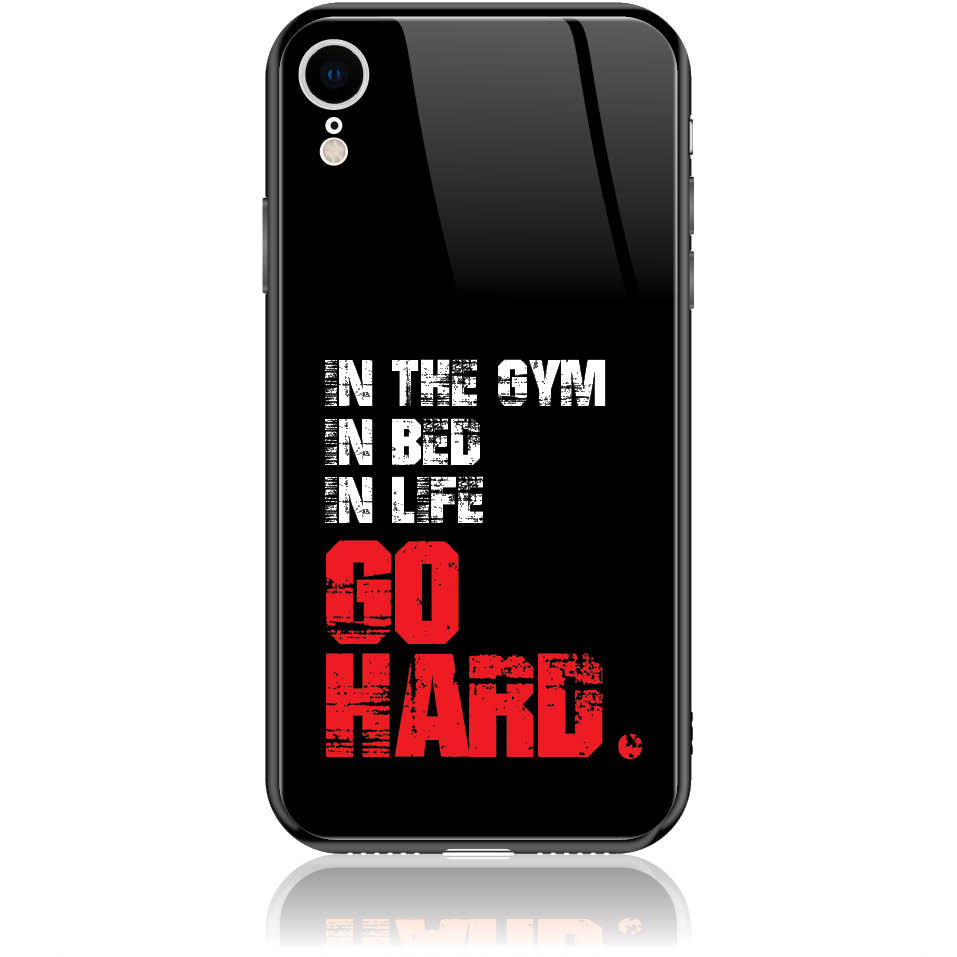 Go Hard Gym Addicted Phone Case Design 50133  -  Iphone Xr  -  Tempered Glass Case