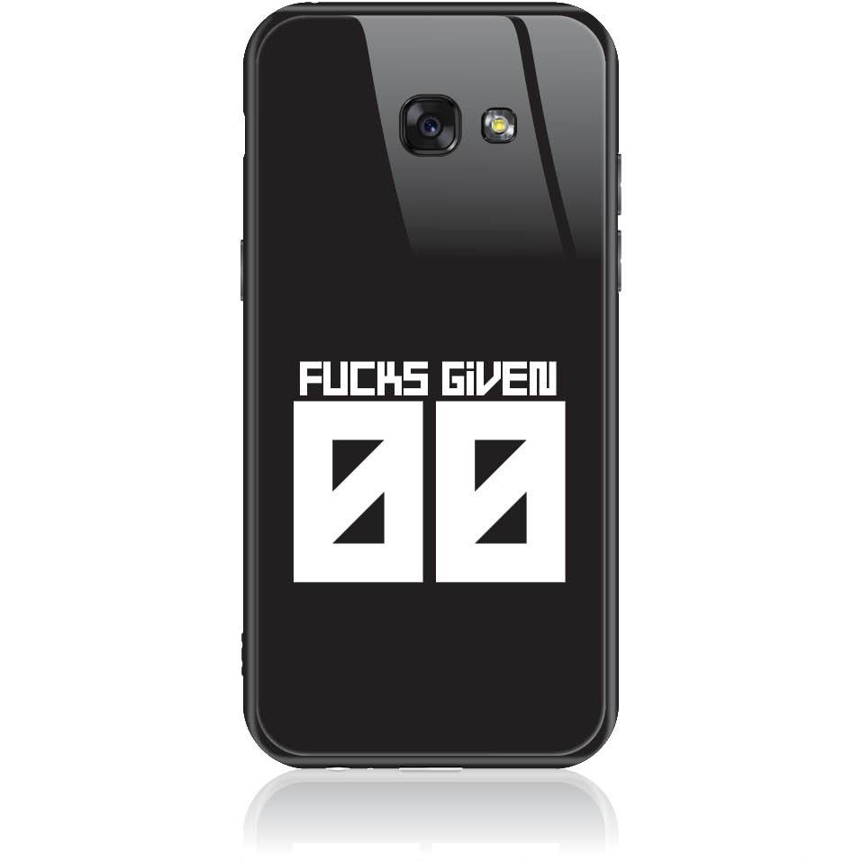 Zero Fucks Given Phone Case Design 50145  -  Samsung Galaxy A5 (2017)  -  Tempered Glass Case