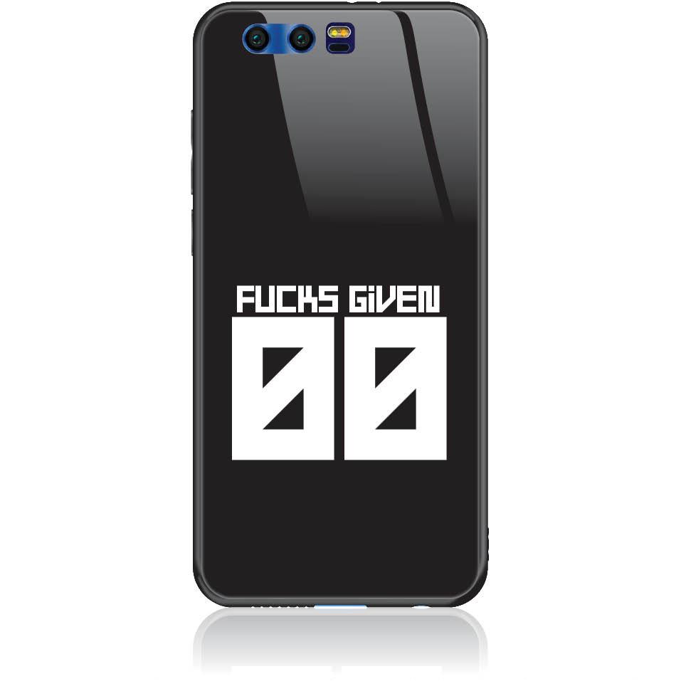 Zero Fucks Given Phone Case Design 50145  -  Honor 9  -  Tempered Glass Case