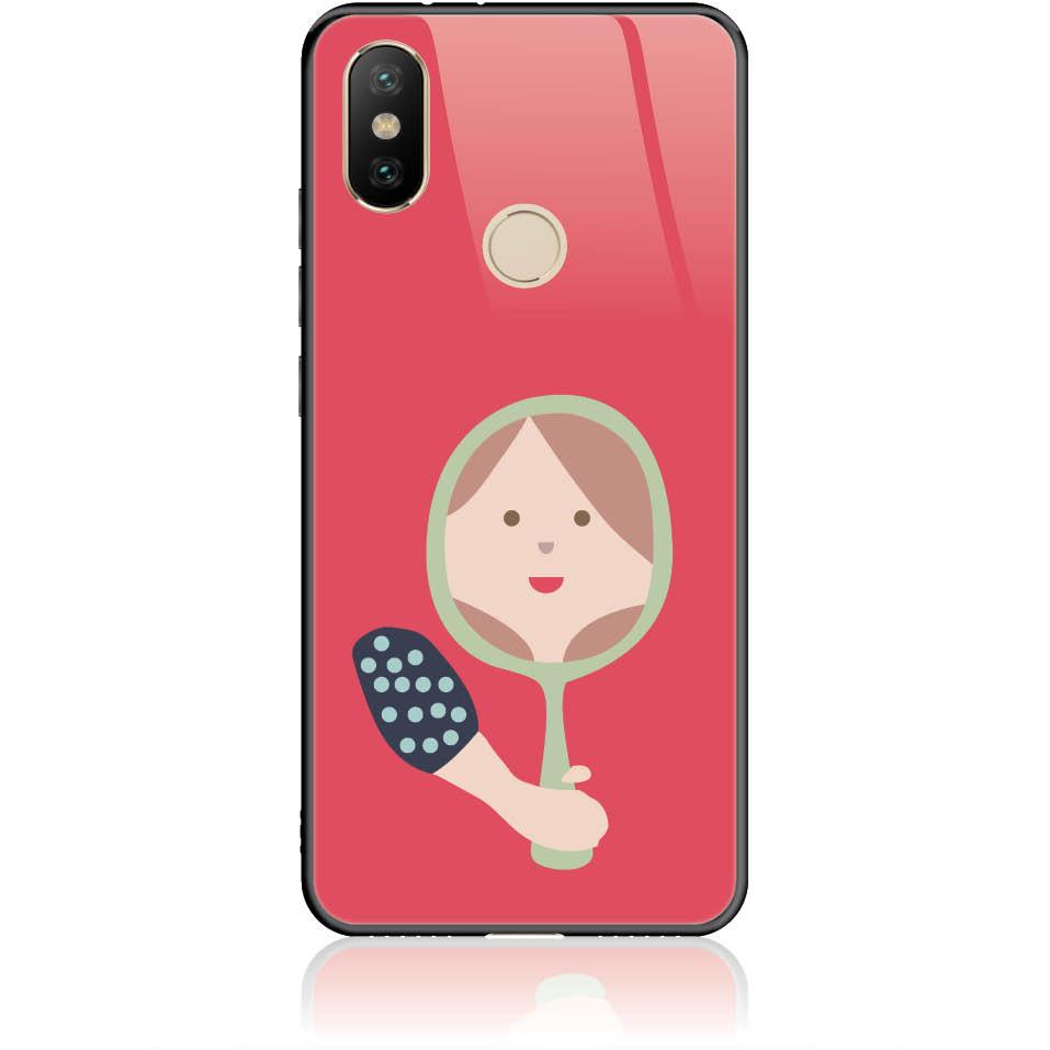 Mirro Mirror Phone Case Design 50164  -  Xiaomi Mi 6x  -  Tempered Glass Case