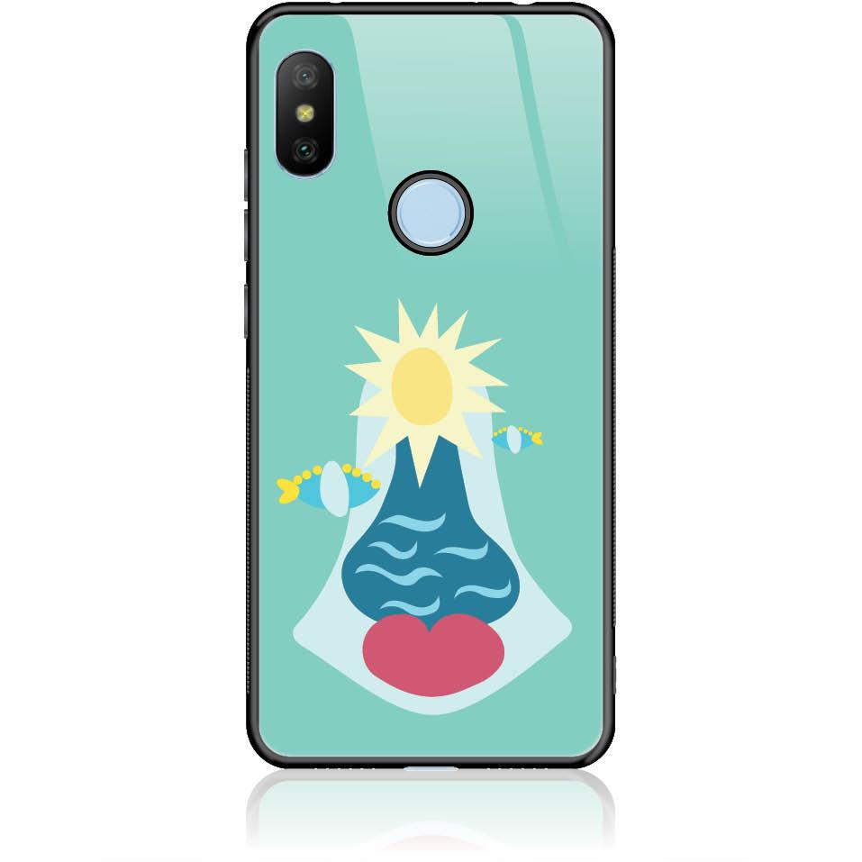 Summer Queen Phone Case Design 50167  -  Xiaomi Redmi Note 6 Pro  -  Tempered Glass Case