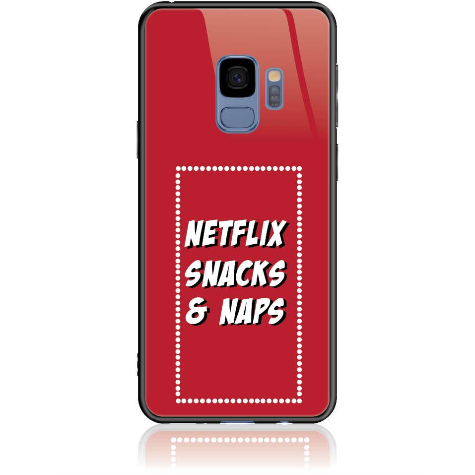Netflix Addicted Phone Case Design 50175  -  Samsung Galaxy S9  -  Tempered Glass Case