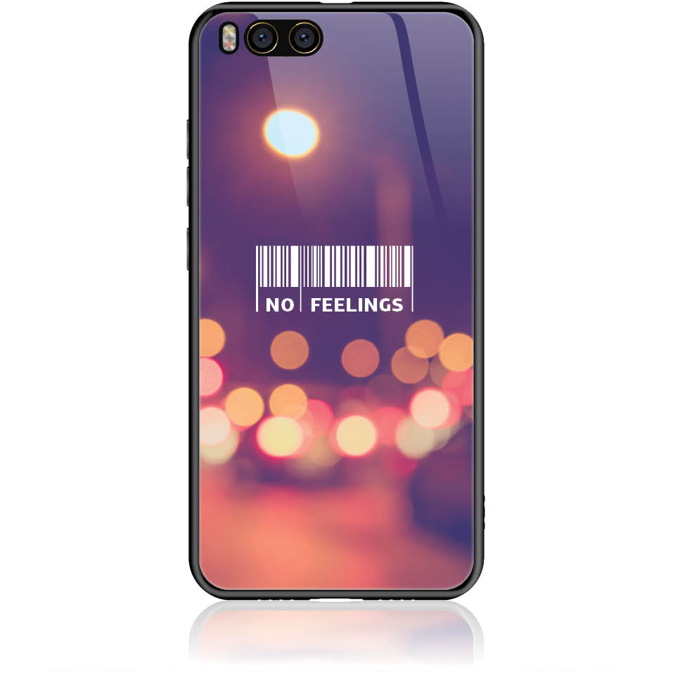 No Feelings Barcode Phone Case Design 50223  -  Xiaomi Mi 6  -  Tempered Glass Case
