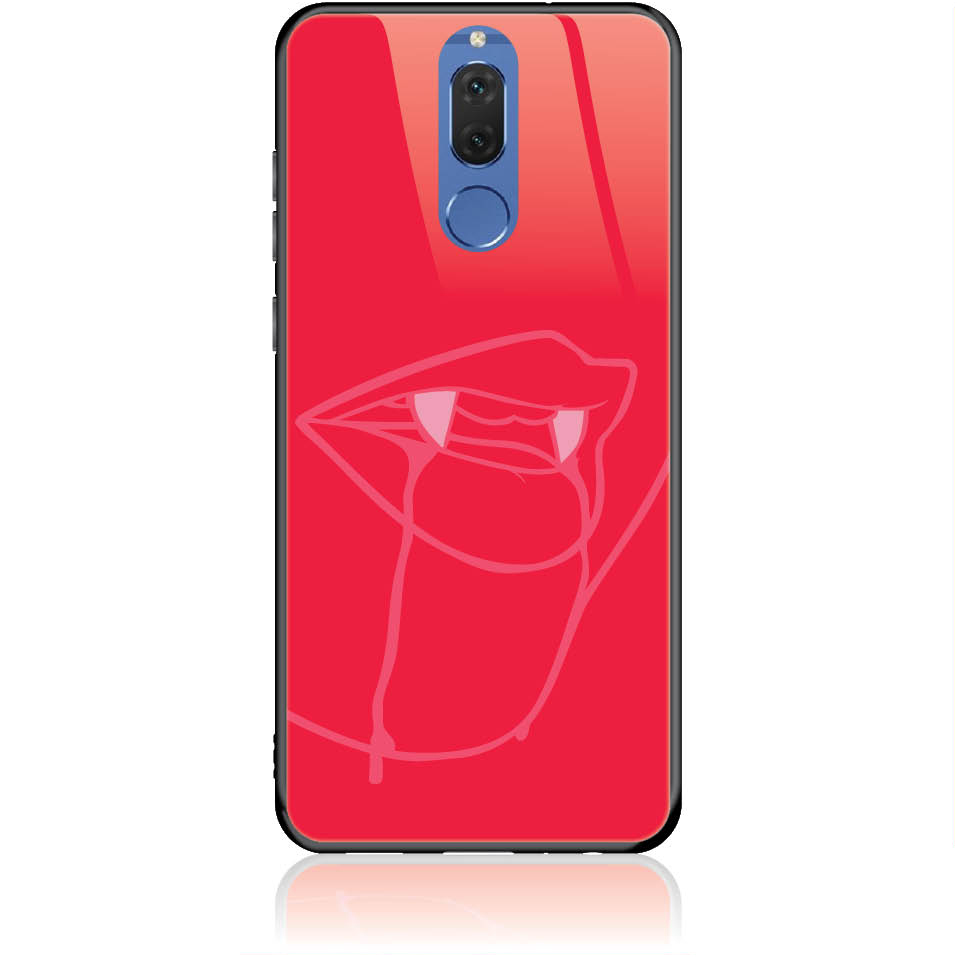Sexy Vimpire Red Phone Case Design 50226  -  Huawei Mate 10 Lite  -  Tempered Glass Case